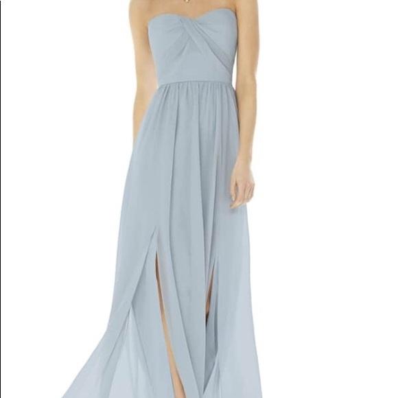 3d54125cfbba Social Bridesmaids Dresses   Strapless Georgette Gown Mist   Poshmark